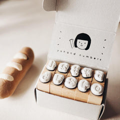 Yohand Studio Rubber Stamp Set - A Box of Numbers