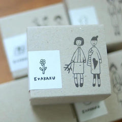 evakaku Rubber Stamp Set - Little Girls
