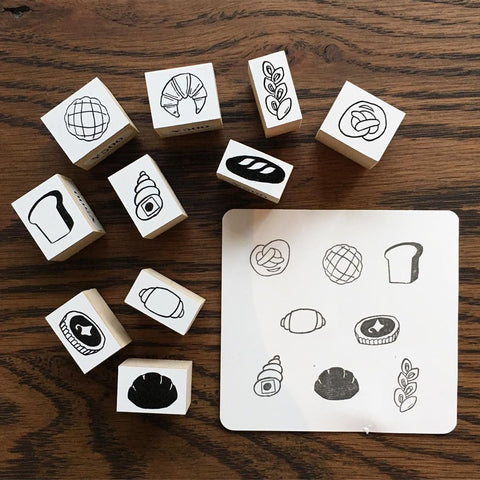 36 Sublo Bread Rubber Stamps
