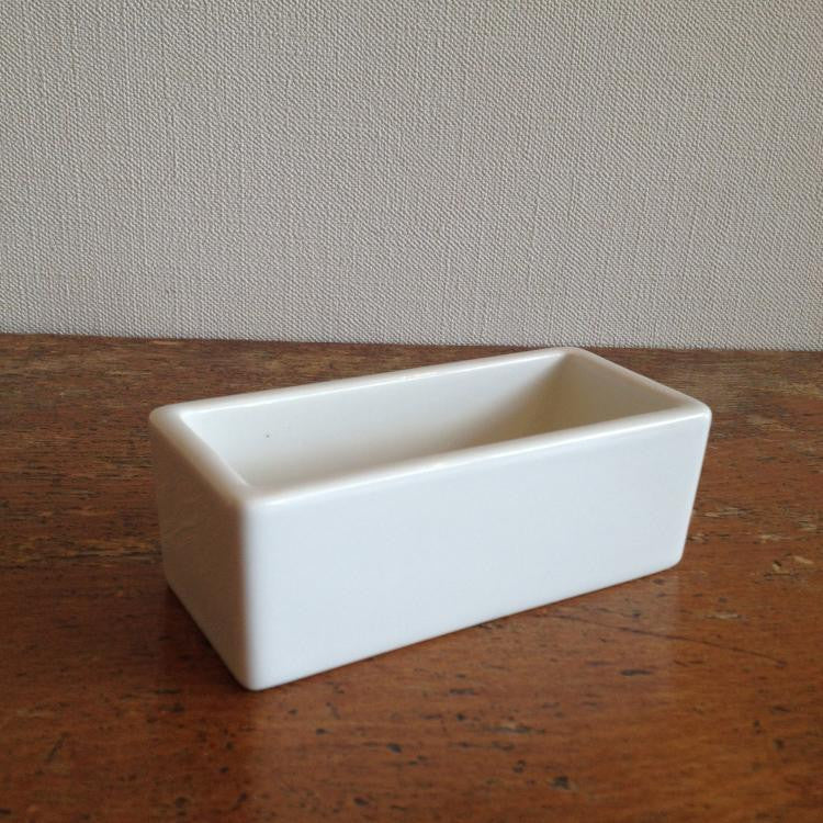 Classiky Porcelain Square Pot (Business card size)