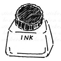 Bonnie Illustration - Stationery Rubber Stamp