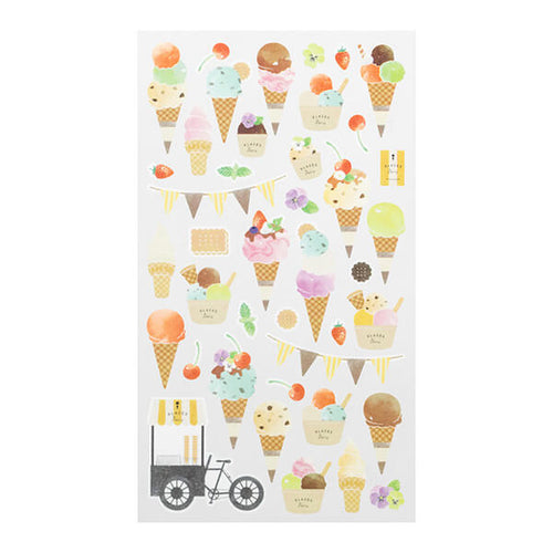 MD Washi Sticker Marché - Ice Cream