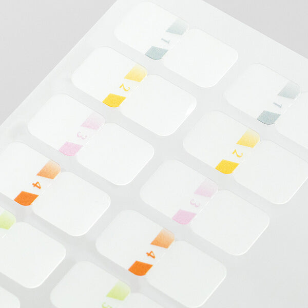 Midori Chiratto Index Labels - Number Colour
