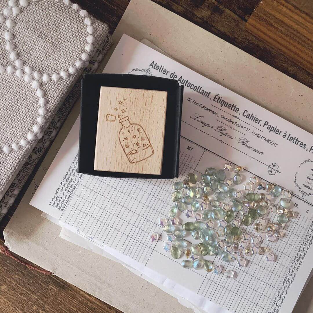 Collecting Stars Rubber Stamp