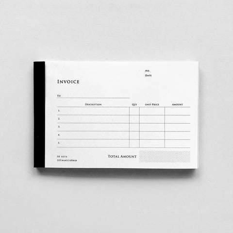 KNOOP Invoice Book (English/with duplicated copy)