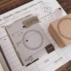 A Date 2.0 Rubber Stamp