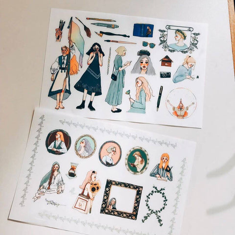 LDV Print-on Stickers: literature and art girl
