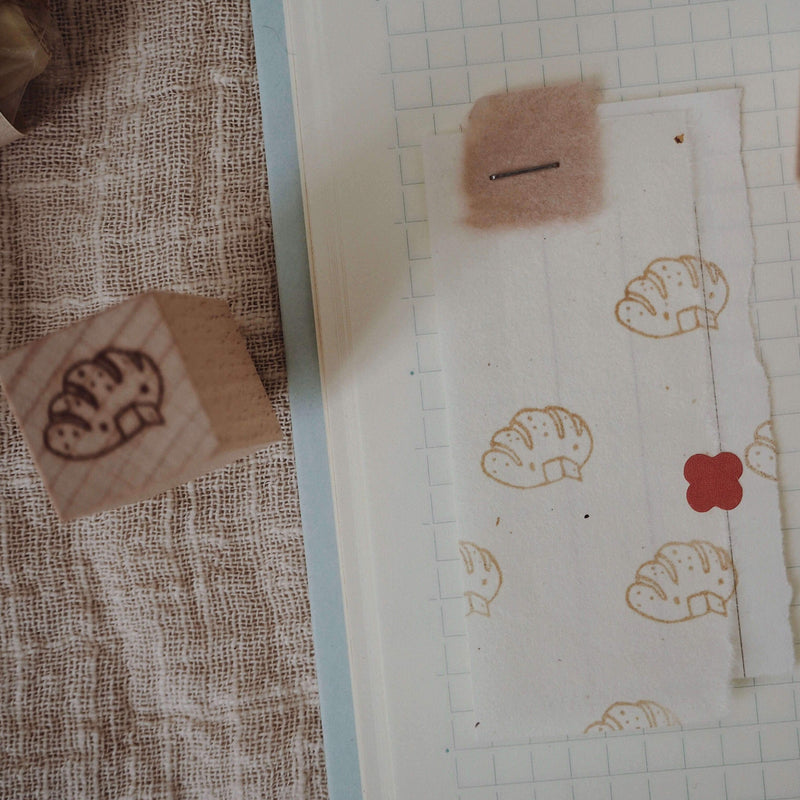 bighands handmade Rubber Stamp - Bread House