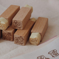 bighands handmade Rubber Stamp - Scenery on my desk