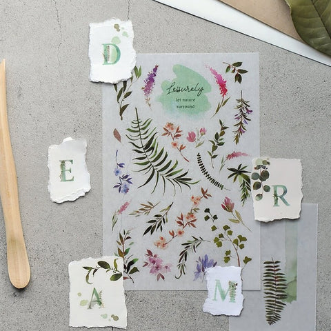 MU Print-On Sticker - Botanical Series IX