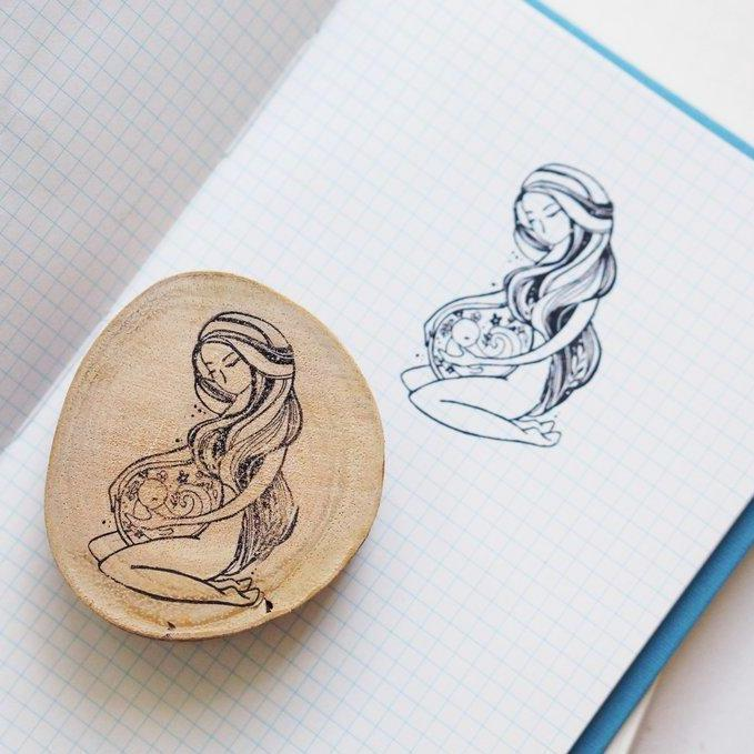 Black Milk Project Rubber Stamp - Birth