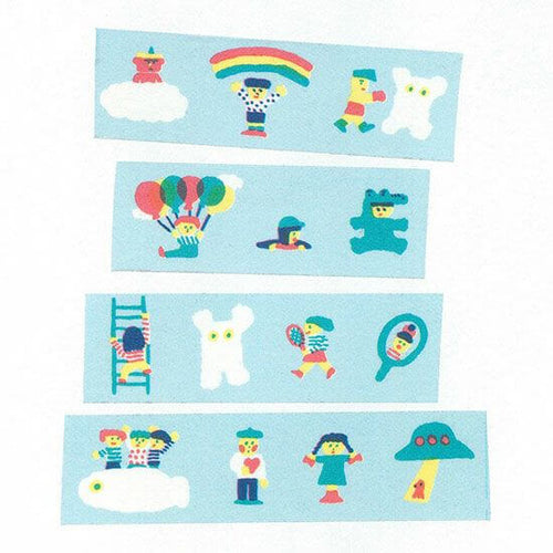 AIUEO Washi Tapes - Chibi 365