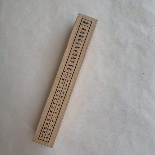 Long Calendar Rubber Stamp