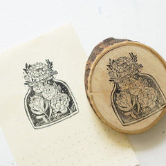 Black Milk Project Rubber Stamp - Raw Wood Bark Handle Collection