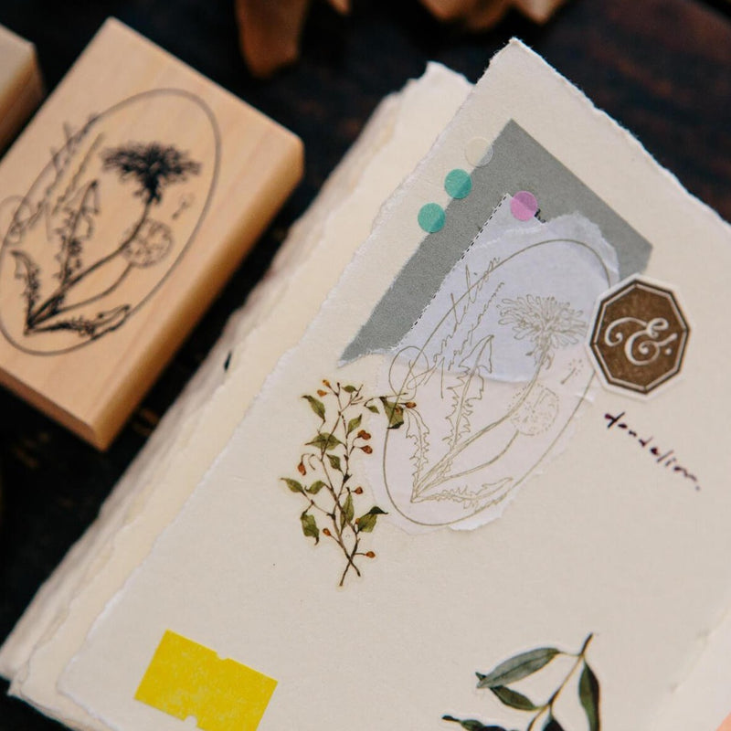OURS Dandelion Rubber Stamp