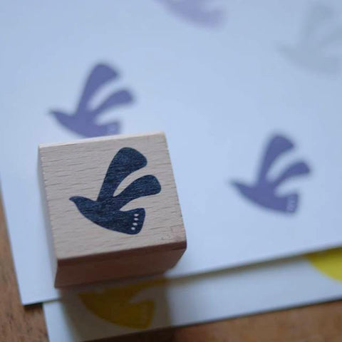 evakaku A Rubber Stamp - bird shadow