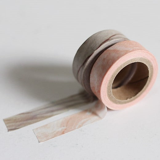 Marble Washi Tape Set - Grey & Pink