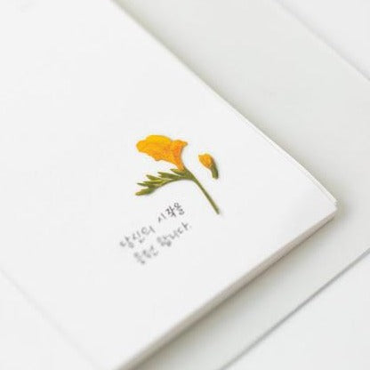 Press Flower Stickers Freesia