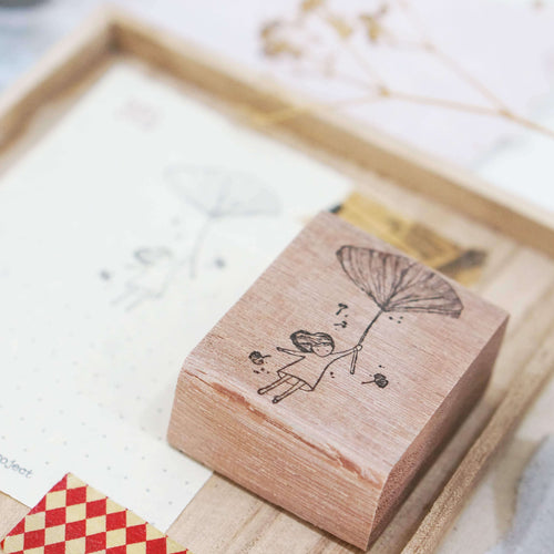 Black Milk Project Rubber Stamp - Gingko Girl