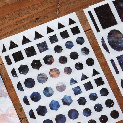 LCN Print-On Stickers - Cosmos / Moon Phases / Stardust