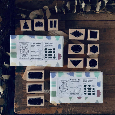 LCN Rubber Stamp Set - Colour Blocks