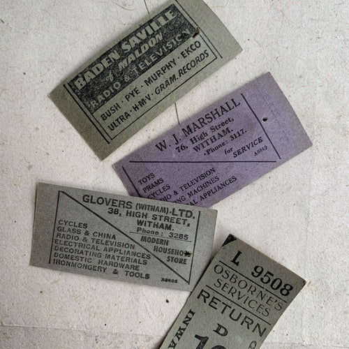 Vintage Ticket Set - Osborne's Services Return Tickets (8pcs)