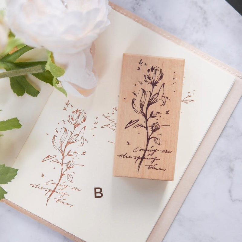 Meow Illustration Botanical Rubber Stamp Collection