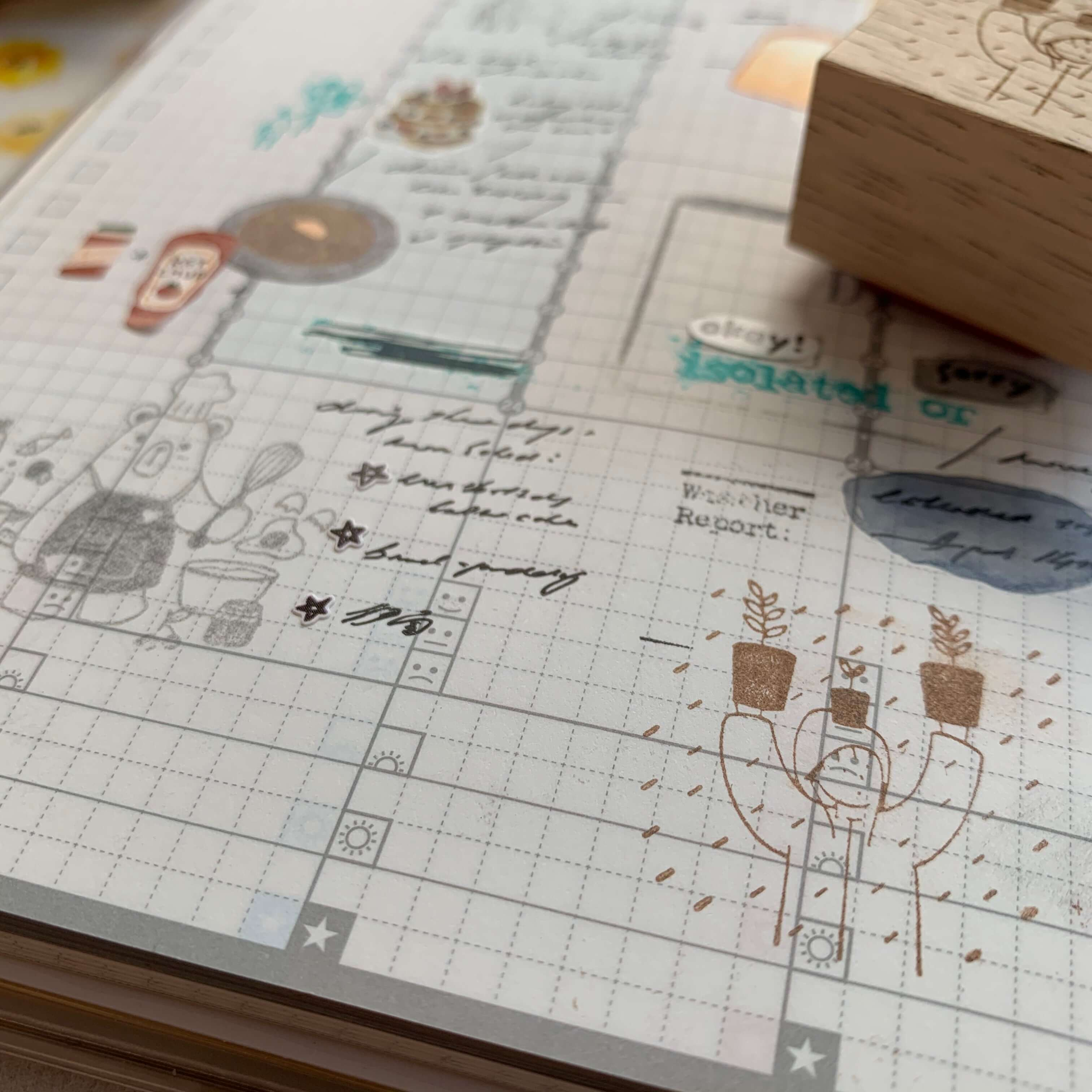 Even If It Rains Rubber Stamps
