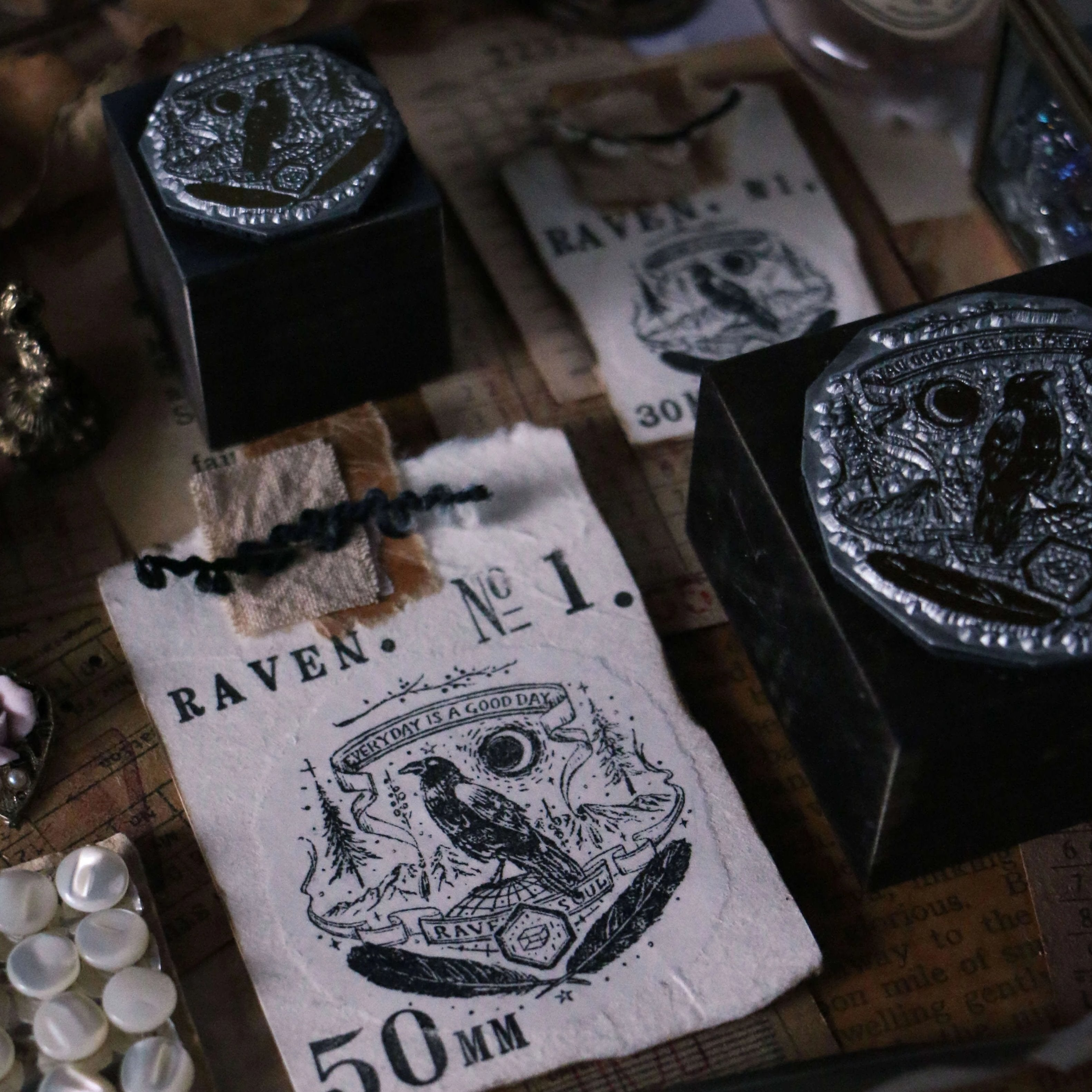 LCN Metal Stamps VIII - Raven / Collections / Night Bat / Moonlit