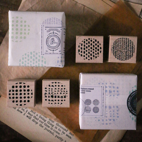 LCN Rubber Stamp Set - Patterns (Round/Square)