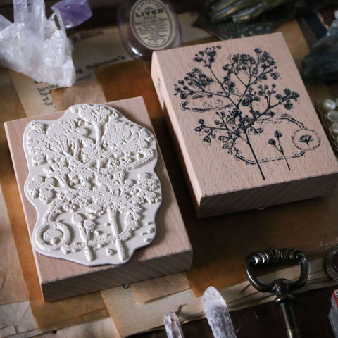 LCN Rubber Stamp Set - Dried Flowers