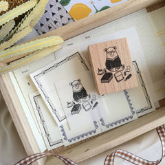 Daily Bear Rubber Stamp