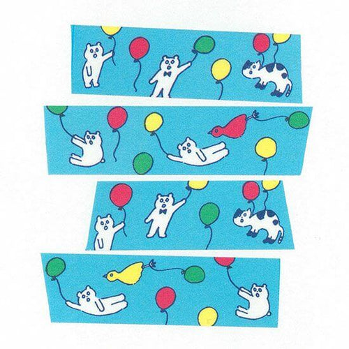 AIUEO Washi Tapes - Kuma Balloon
