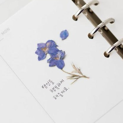 Press Flower Stickers Larkspur