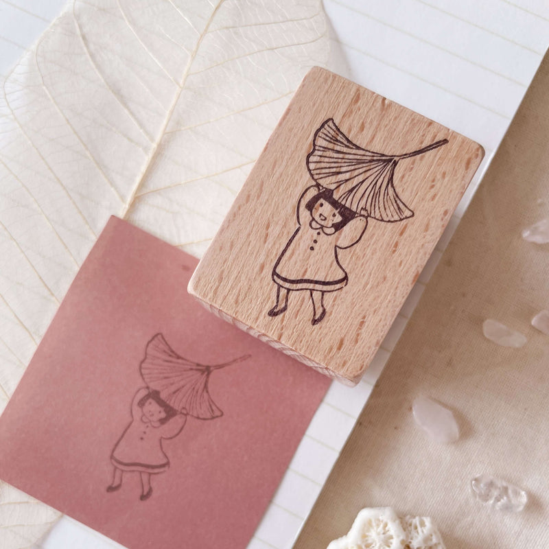 msbulat Rubber Stamp - Leaf it to me