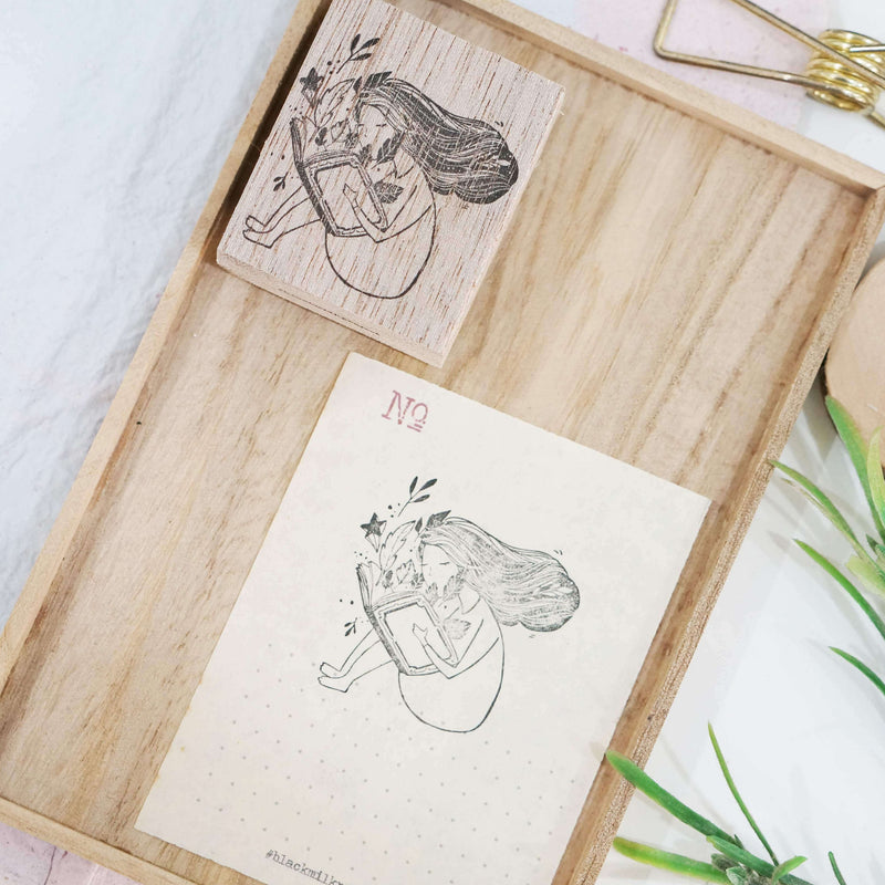 Black Milk Project Rubber Stamp - Magical Book