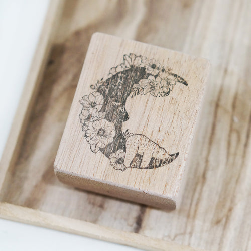 Black Milk Project Rubber Stamp - Moon Bear/Rabbit