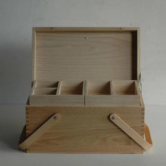 Classiky Chestnut Wooden Sewing Box