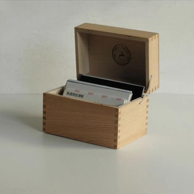 Classiky Chestnut Wooden Postcard Case