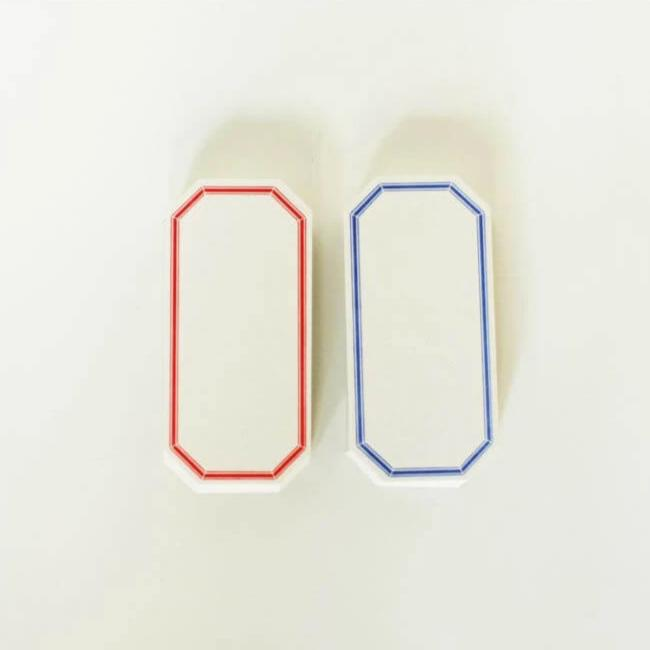 Classiky Letterpress Label Cards (Red/Blue)