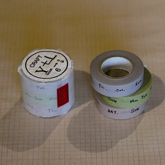 Classiky Weekly Washi Tapes - Set of 3
