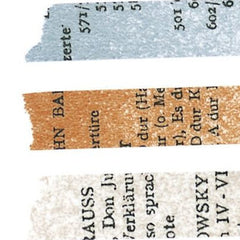 Classiky Old Book Washi Tapes (10mm) - Set of 3
