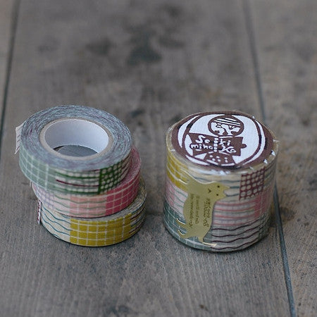 Classiky Textile Collage Washi Tapes (15mm) - Set of 3