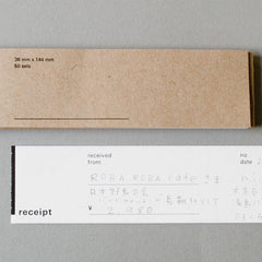 Classiky x Drop Around Receipt Book 01-03