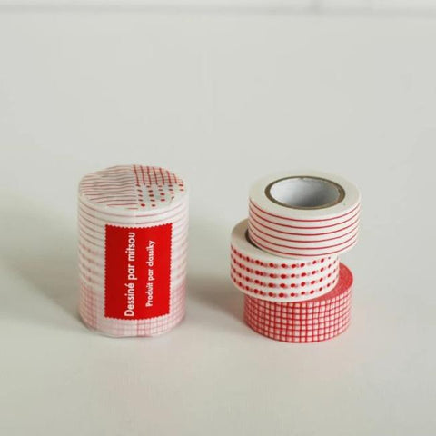 Classiky Dots/Stripes/Checks Washi Tapes (Set of 3)
