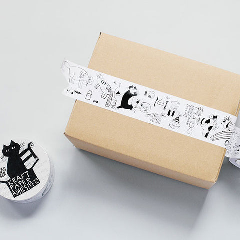 Classiky x Toranekobonbon Craft Paper Tape - Cat