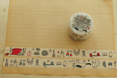 Classiky x Toranekobonbon Washi Tapes - Memory of mon petit (Set of 2)