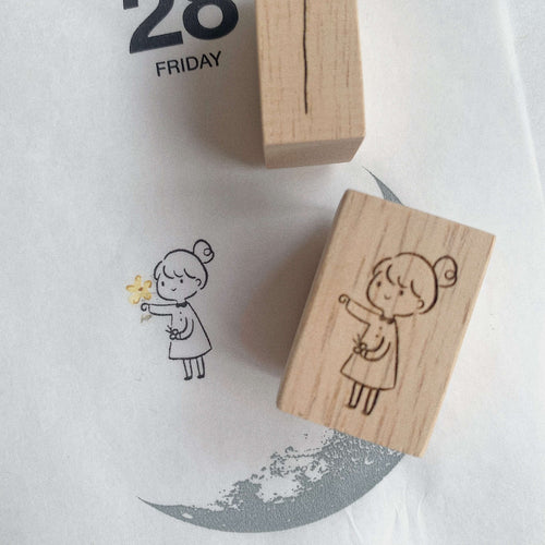 Inner Side of Me Rubber Stamp - Girl with balloon