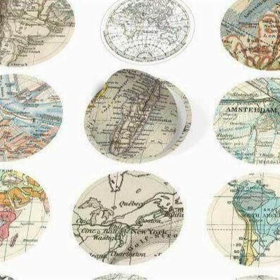 PEPIN Label, Sticker & Tape Books - Historical Map