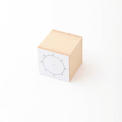Mizushima Schedule Circle Rubber Stamp